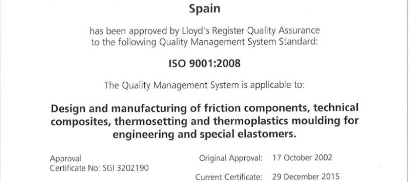 ISO9000 certificate renewal