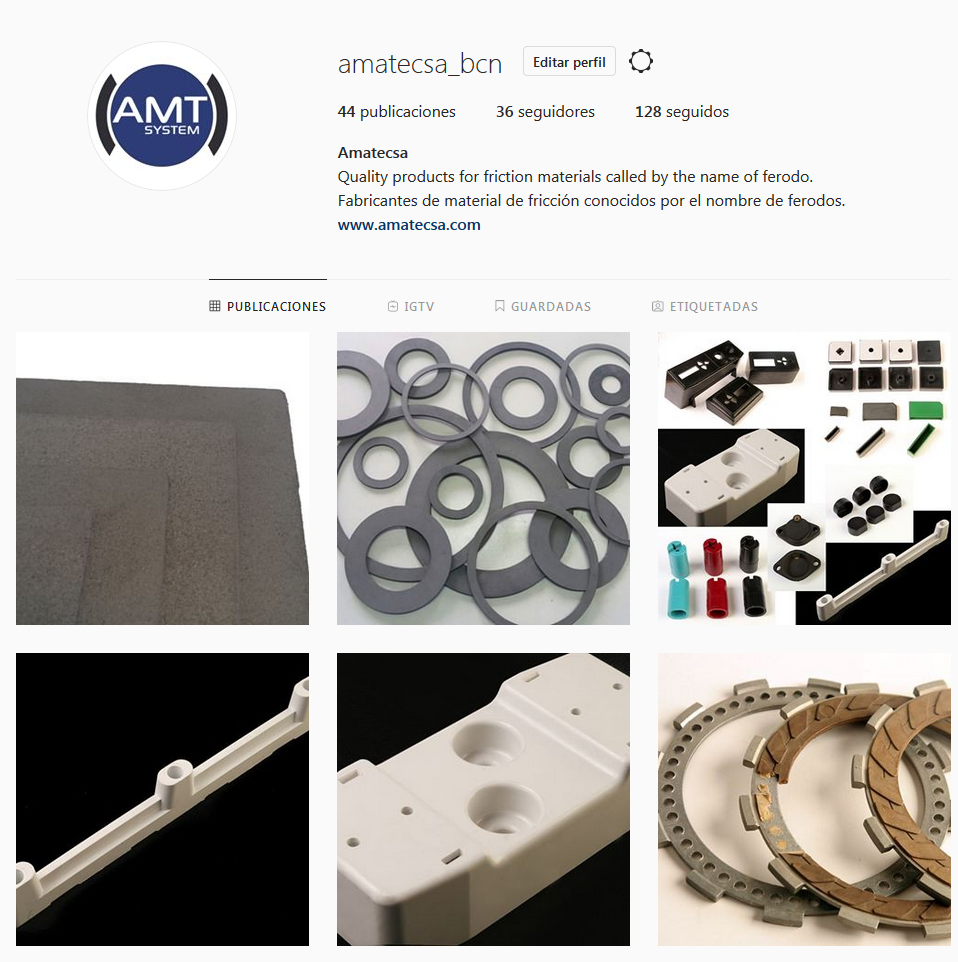 Follow us in Instagram! Friction materials ferodo type Themoset moulding Special elastomers And much more...