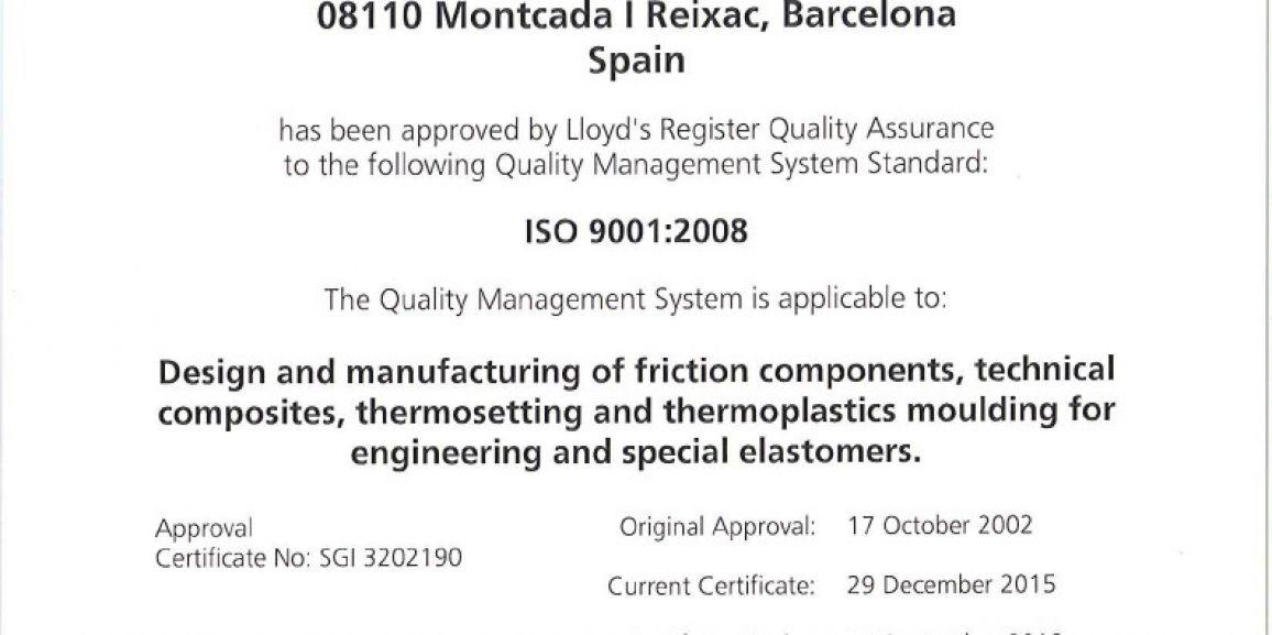 ISO9000 certificate renewal